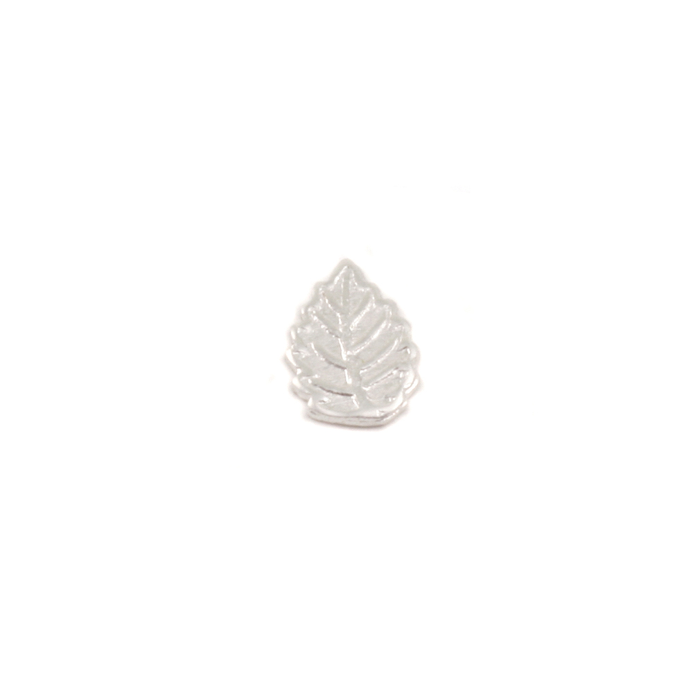 "Charms & Solderable Accents Sterling Silver Leaf Solderable Accent, 7.3mm (.28"") x 5.1mm (.20""), 24g - Pack of 5"