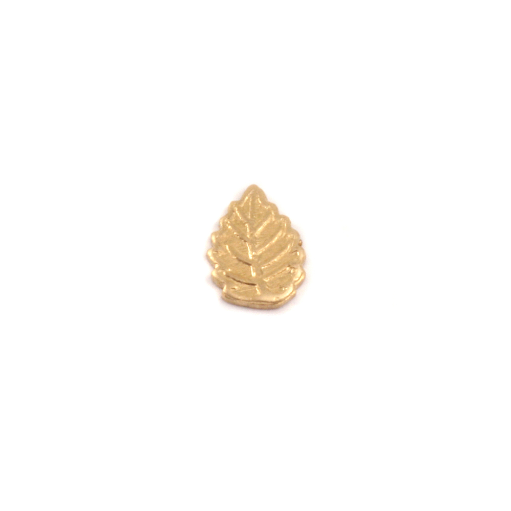 "Charms & Solderable Accents Brass Leaf Solderable Accent, 7.3mm (.28"") x 5.1mm (.20""), 24g - Pack of 5"