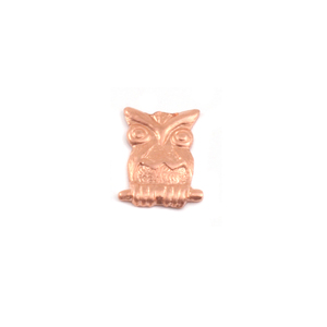 Charms & Solderable Accents Copper Owl Solderable Accent, 24g