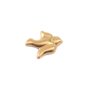 Charms & Solderable Accents Brass Dove Solderable Accent, 24g - Pack of 5