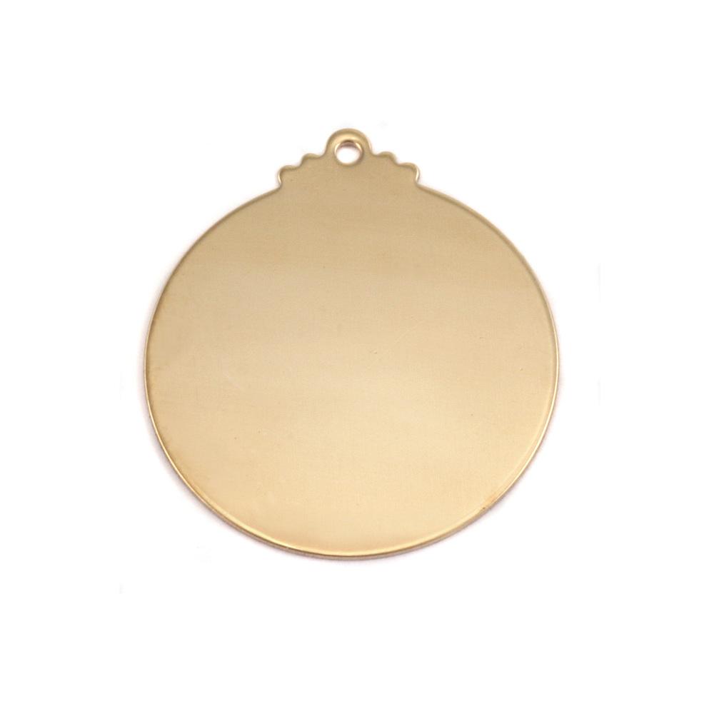 Metal Stamping Blanks Brass Victorian Large Circle Blank, 24g
