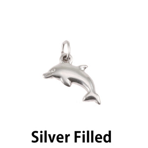 Charms & Solderable Accents Silver Filled Dolphin Charm