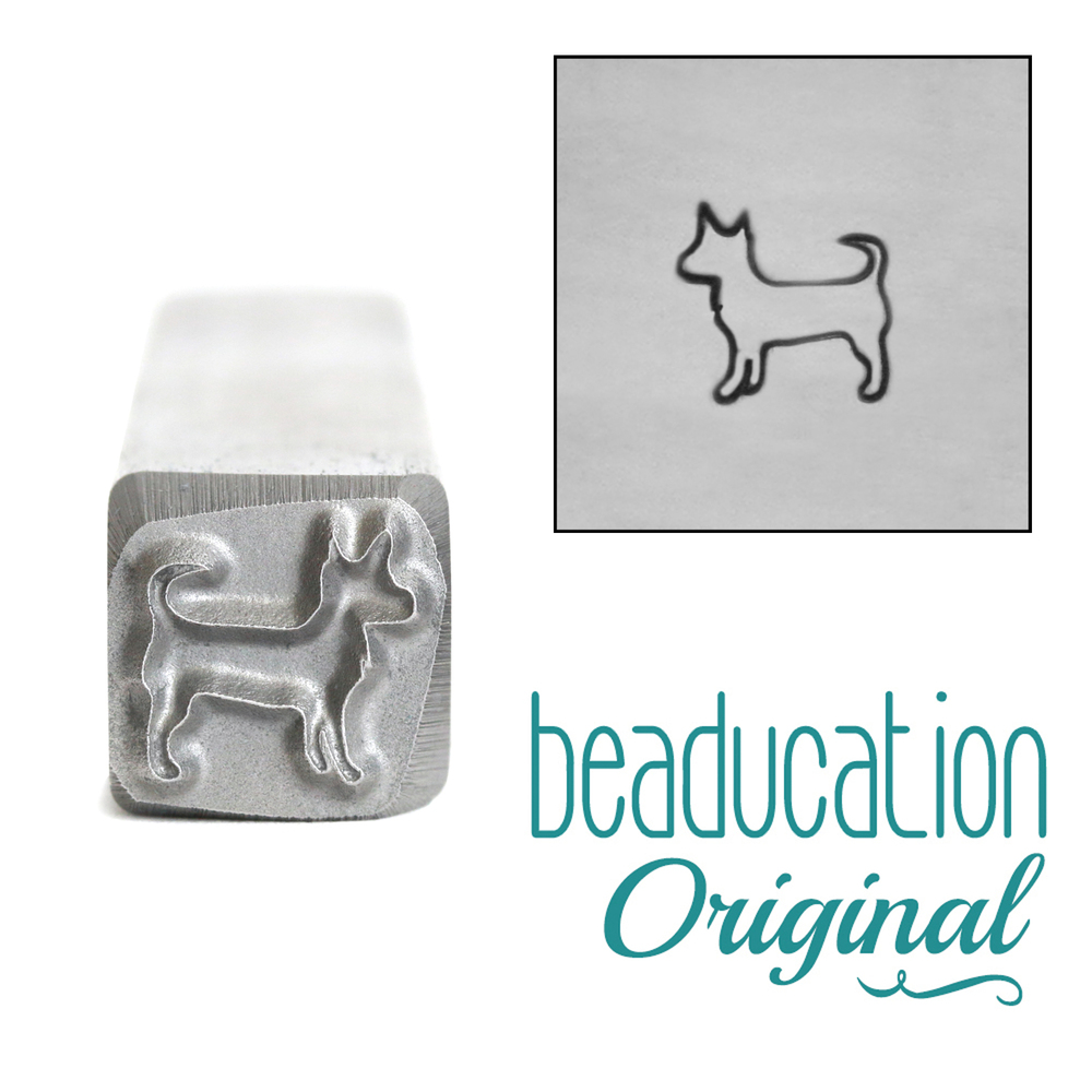 Metal Stamping Tools Pancho the Dog Metal Design Stamp, 7mm - Beaducation Original
