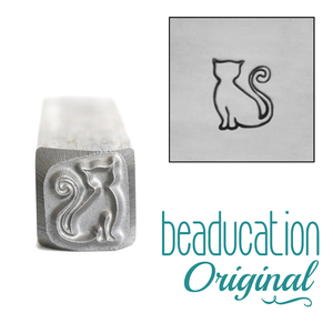 Metal Stamping Tools Sadie the Cat Metal Design Stamp, 7.5mm - Beaducation Original