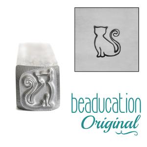 Metal Stamping Tools Sadie the Cat Metal Design Stamp, 7.5mm - Beaducation Original