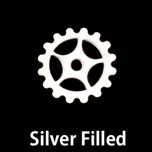 Metal Stamping Blanks Silver Filled Small Spoked Cog, 24g