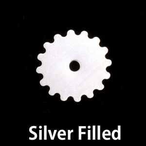 Metal Stamping Blanks Silver Filled Small Solid Cog, 24g