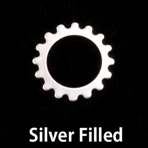 Metal Stamping Blanks Silver Filled Small Open Cog, 24g