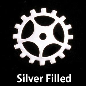 Metal Stamping Blanks Silver Filled Medium Spoked Cog, 24g