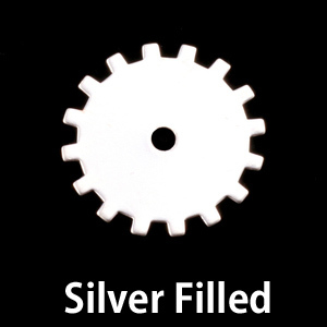 Metal Stamping Blanks Silver Filled Medium Solid Cog, 24g