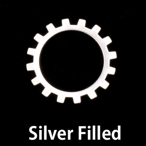Metal Stamping Blanks Silver Filled Medium Open Cog, 24g