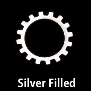Metal Stamping Blanks Silver Filled Medium Open Cog, 24g