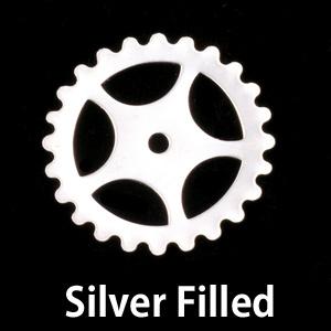 Metal Stamping Blanks Silver Filled Large Spoked Cog, 24g