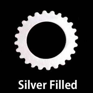 Metal Stamping Blanks Silver Filled Large Open Cog, 24g