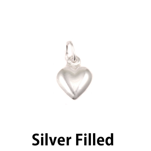Charms & Solderable Accents Silver Filled Small Heart Charm