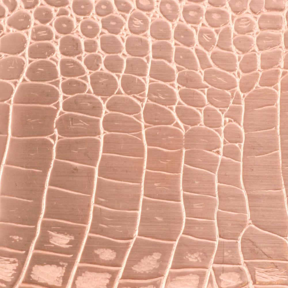 Wire & Sheet Metal Patterned Copper 24g Sheet Metal, Crocodile, 2.5 ...