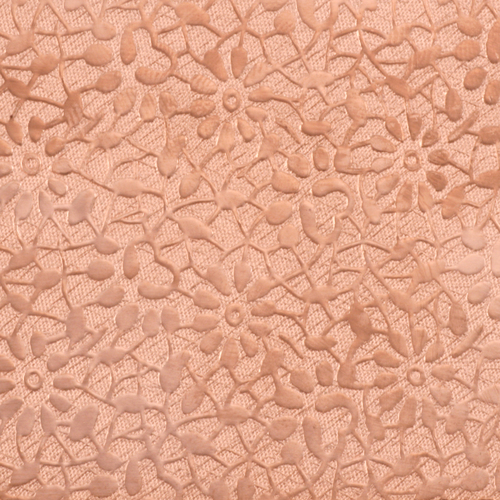 "Sheet Metal Patterned Copper 24g Sheet Metal, Daisy, 2.5"" x 6"""