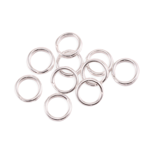 Jump Rings Sterling Silver 4mm I.D. 18 Gauge Jump Rings, Pack of 10
