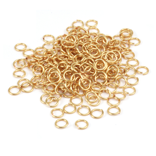 Chain & Jump Rings Gold Enamel Jump Rings 5.5mm, 18g 1oz.