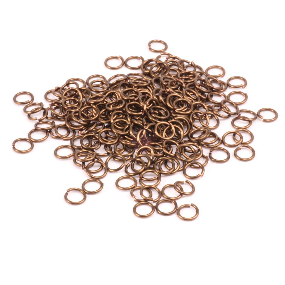 Jump Rings Vintage Bronze Enamel Jump Rings 5.5mm, 18g 1oz.