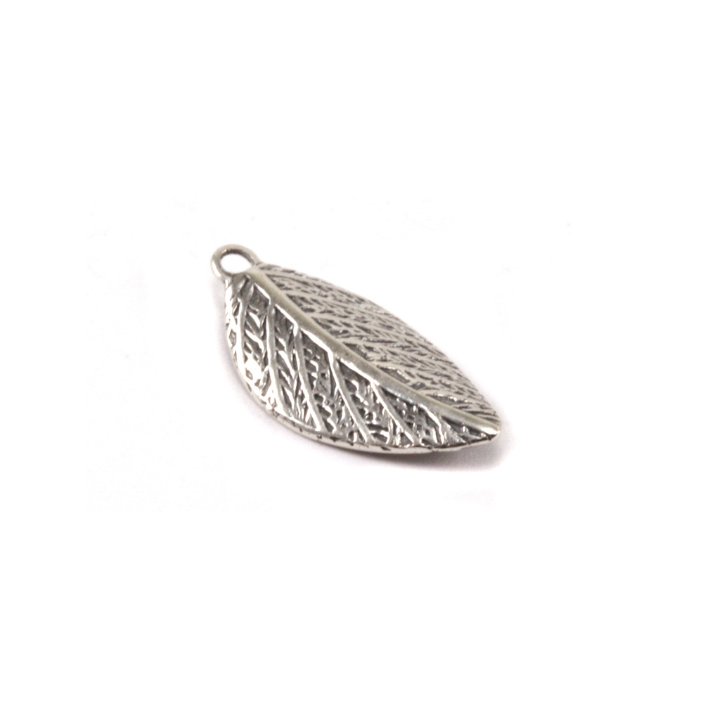 Charms & Solderable Accents Sterling Silver Leaf Charm