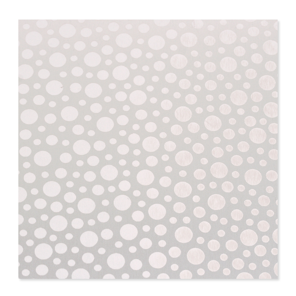 Anodized Aluminum 22g 3x3 Sheet, Design T, Silver