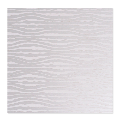 Dregs Anodized Aluminum 22g 3x3 Sheet, Design W, Silver