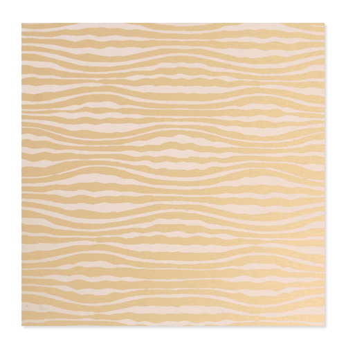 Dregs Anodized Aluminum 22g 3x3 Sheet, Design W, Gold