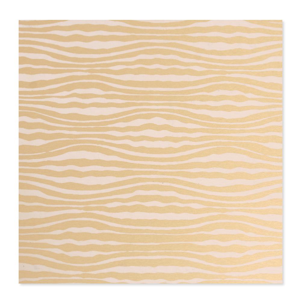 Anodized Aluminum 22g 3x3 Sheet, Design W, Gold