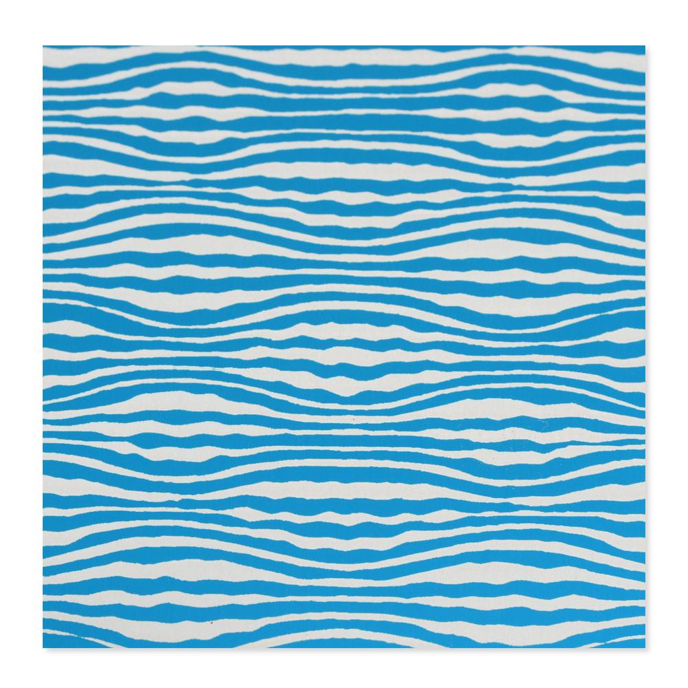 Anodized Aluminum 24g 3x3 Sheet, Design W, Turquoise