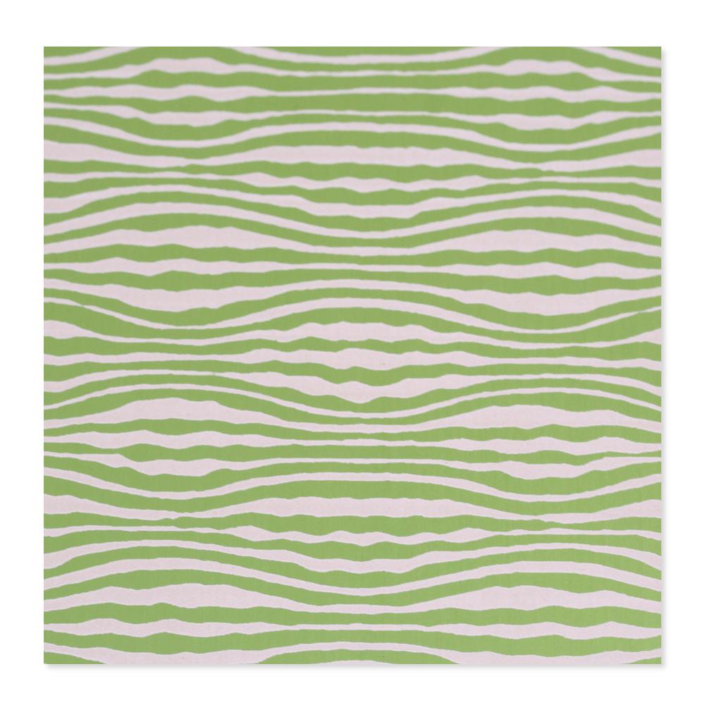 Anodized Aluminum 24g 3x3 Sheet, Design W, Lime Green
