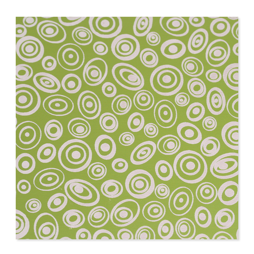 Dregs Anodized Aluminum 24g 3x3 Sheet, Design V, Lime Green