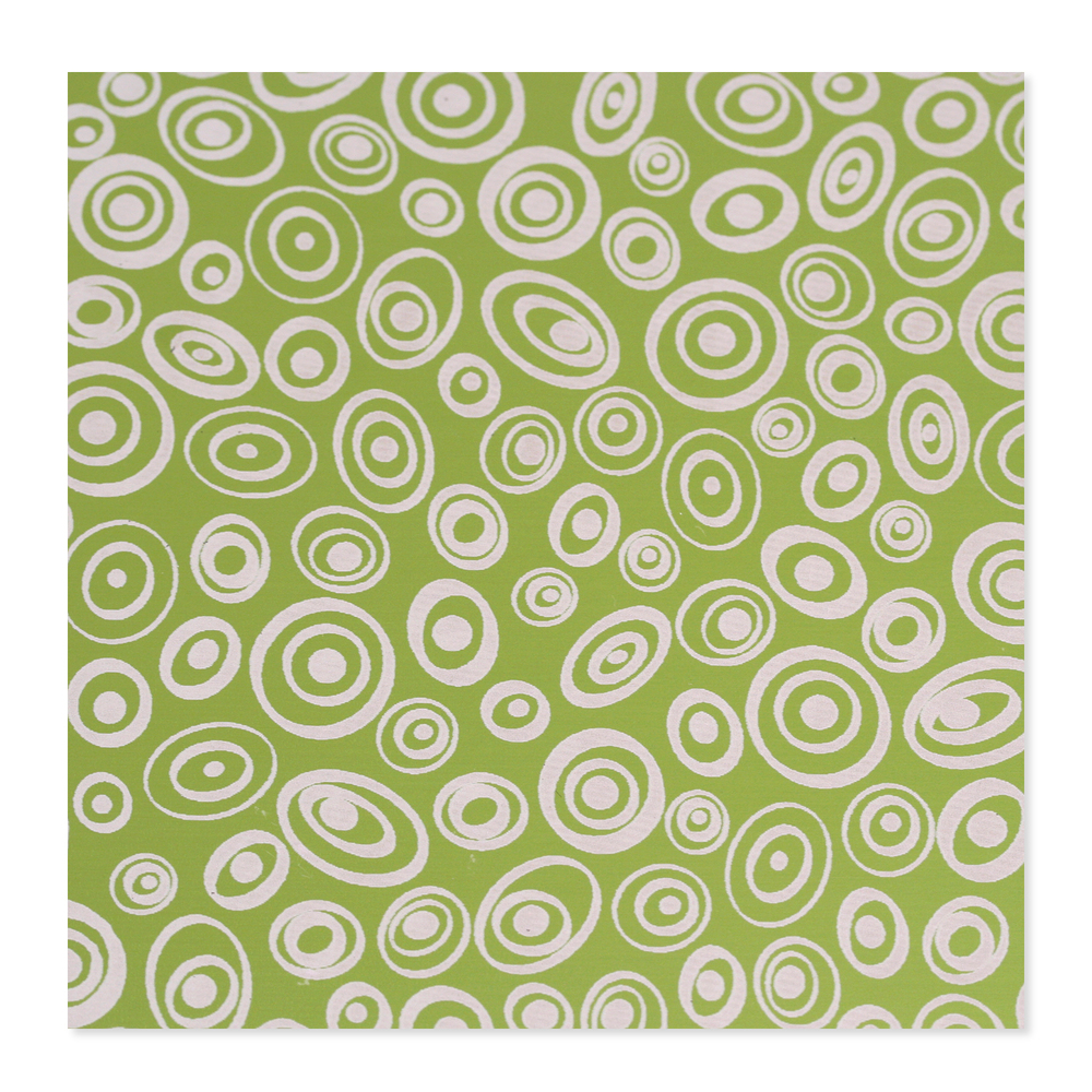 Anodized Aluminum 24g 3x3 Sheet, Design V, Lime Green