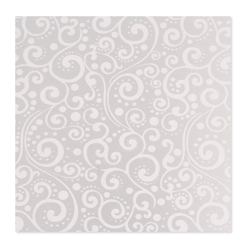 Dregs Anodized Aluminum 22g 3x3 Sheet, Design X, Silver