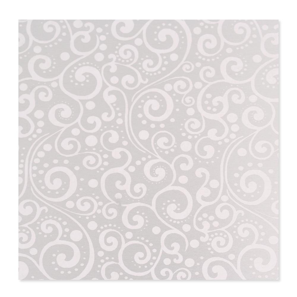 Anodized Aluminum 22g 3x3 Sheet, Design X, Silver