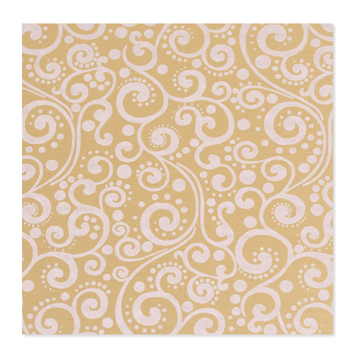Dregs Anodized Aluminum 22g 3x3 Sheet, Design X, Gold