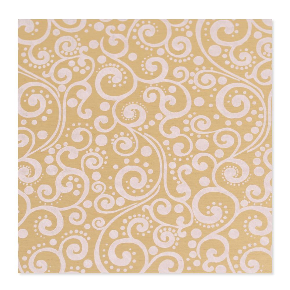 Anodized Aluminum 22g 3x3 Sheet, Design X, Gold