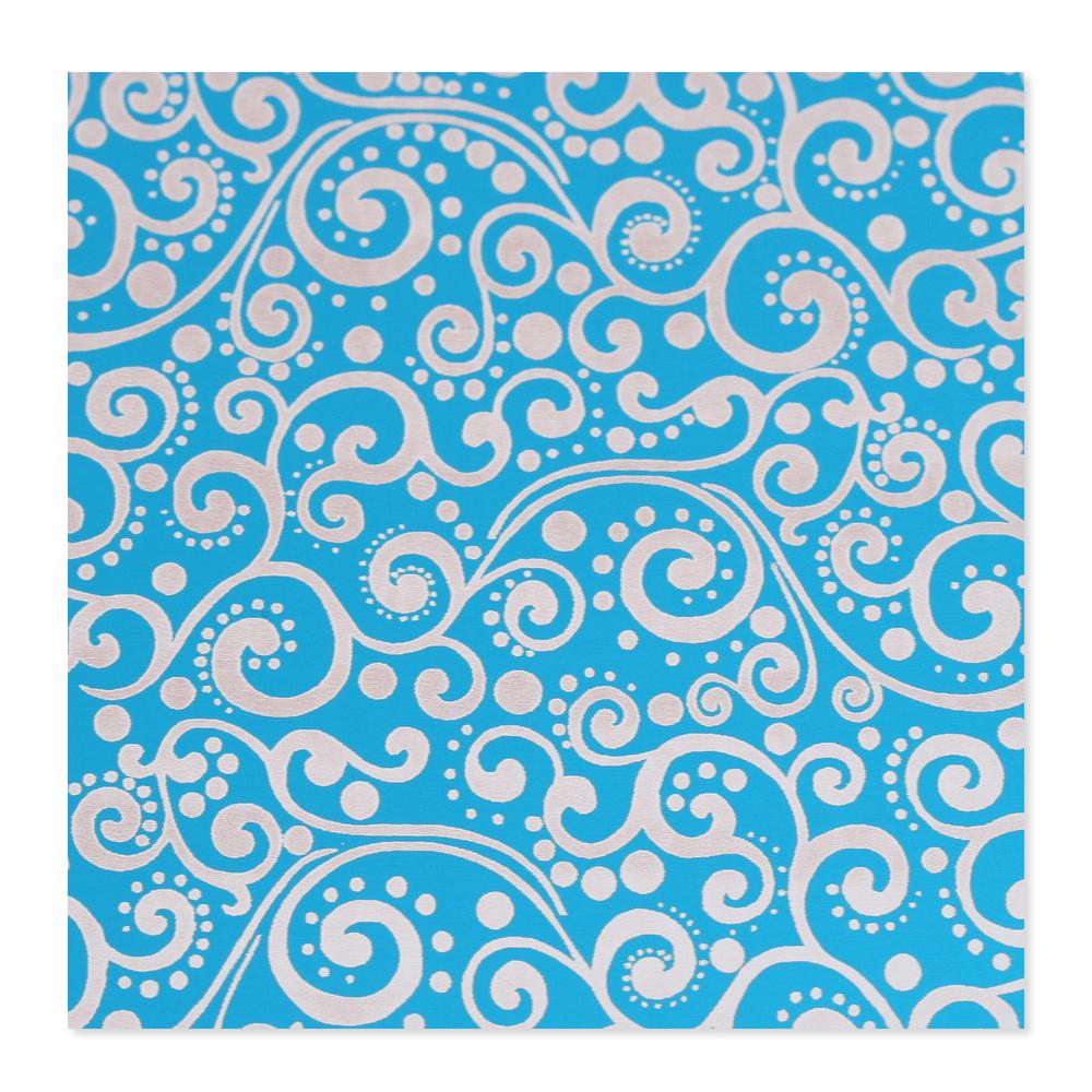 Anodized Aluminum 24g 3x3 Sheet, Design X, Turquoise