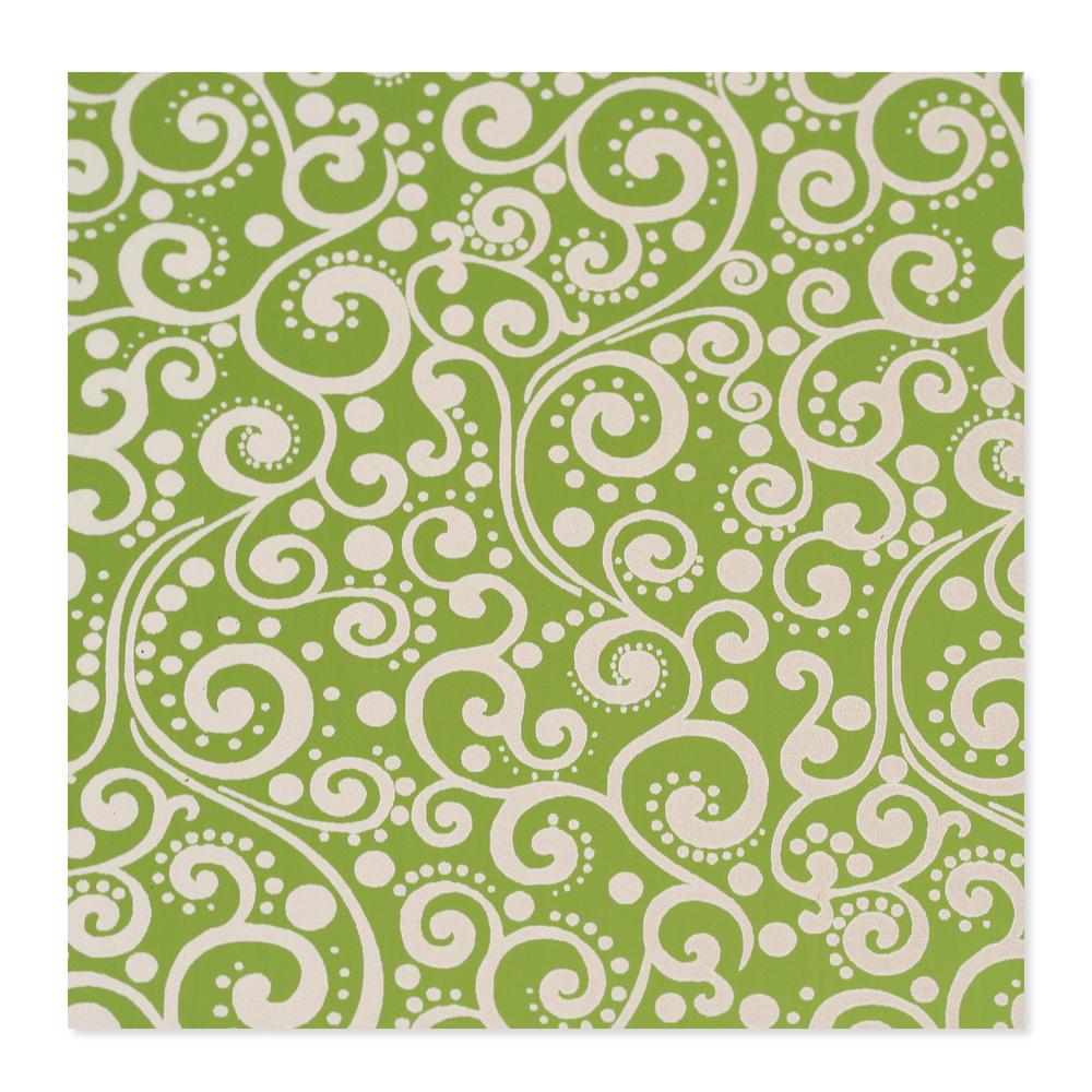 Anodized Aluminum 24g 3x3 Sheet, Design X, Lime Green