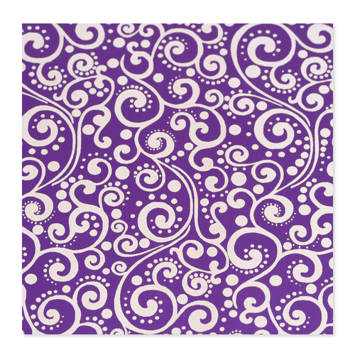 Dregs Anodized Aluminum 24g 3x3 Sheet, Design X, Purple