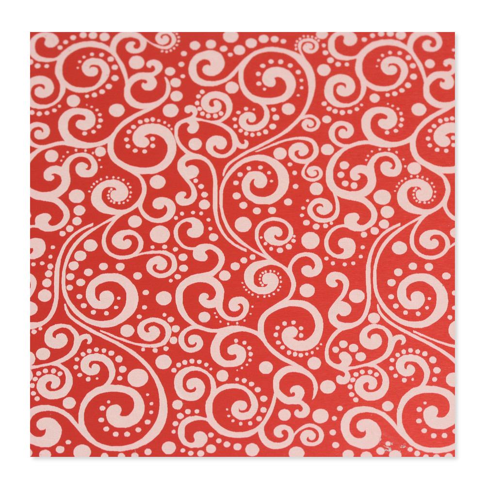 Anodized Aluminum 24g 3x3 Sheet, Design X, Red