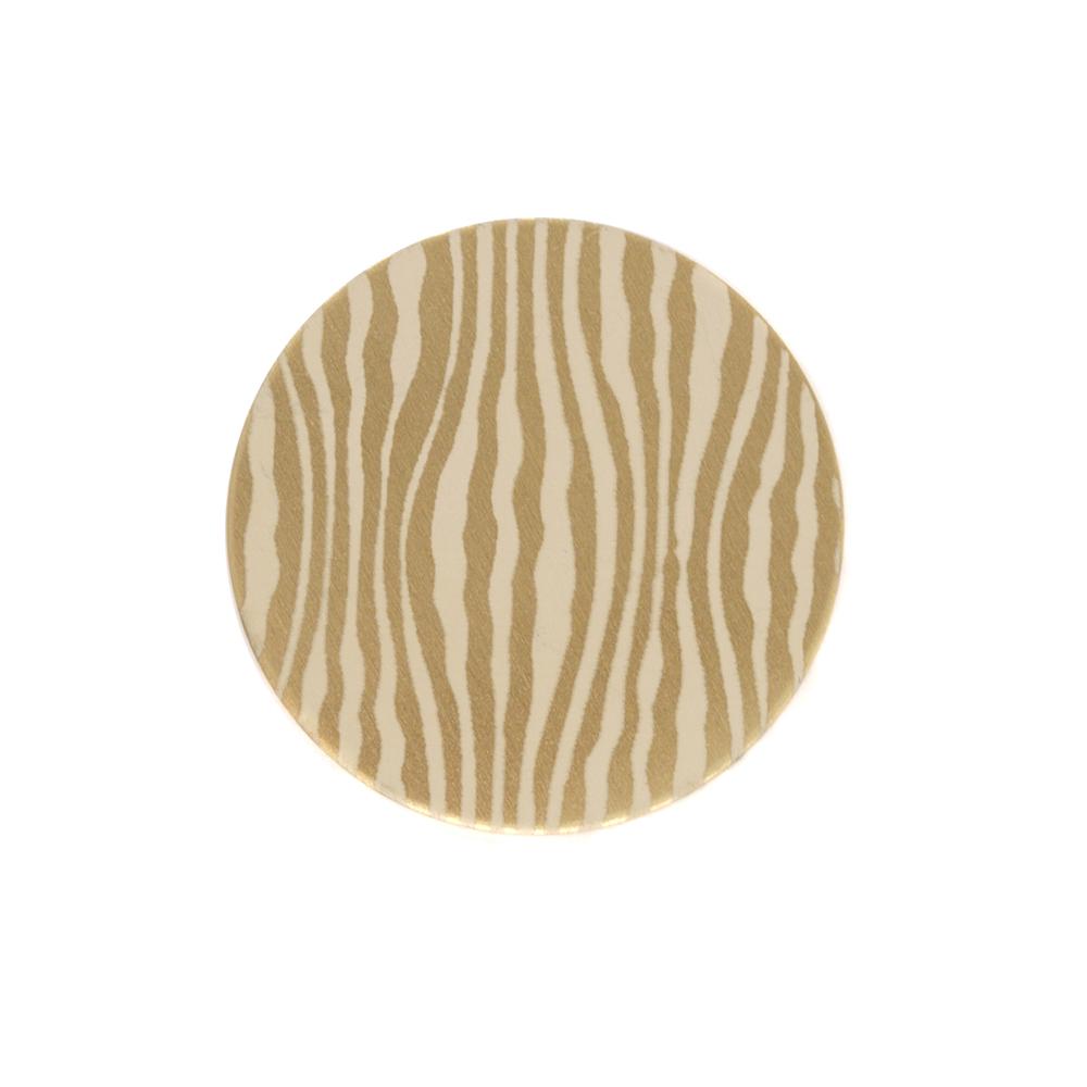 "Anodized Aluminum 5/8"" Circle, Gold, Design #18, 22g"