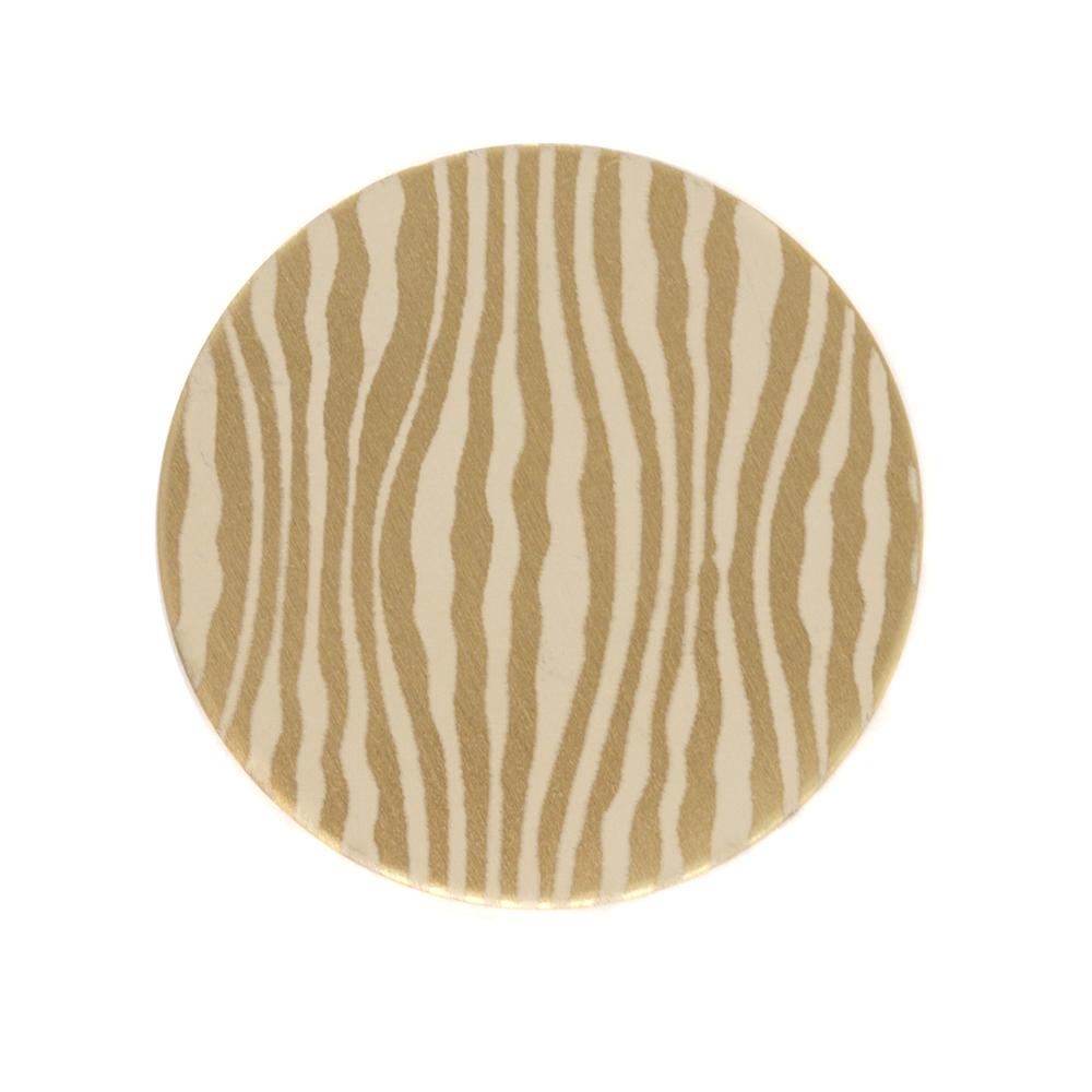 "Anodized Aluminum 3/4"" Circle, Gold, Design #18, 22g"