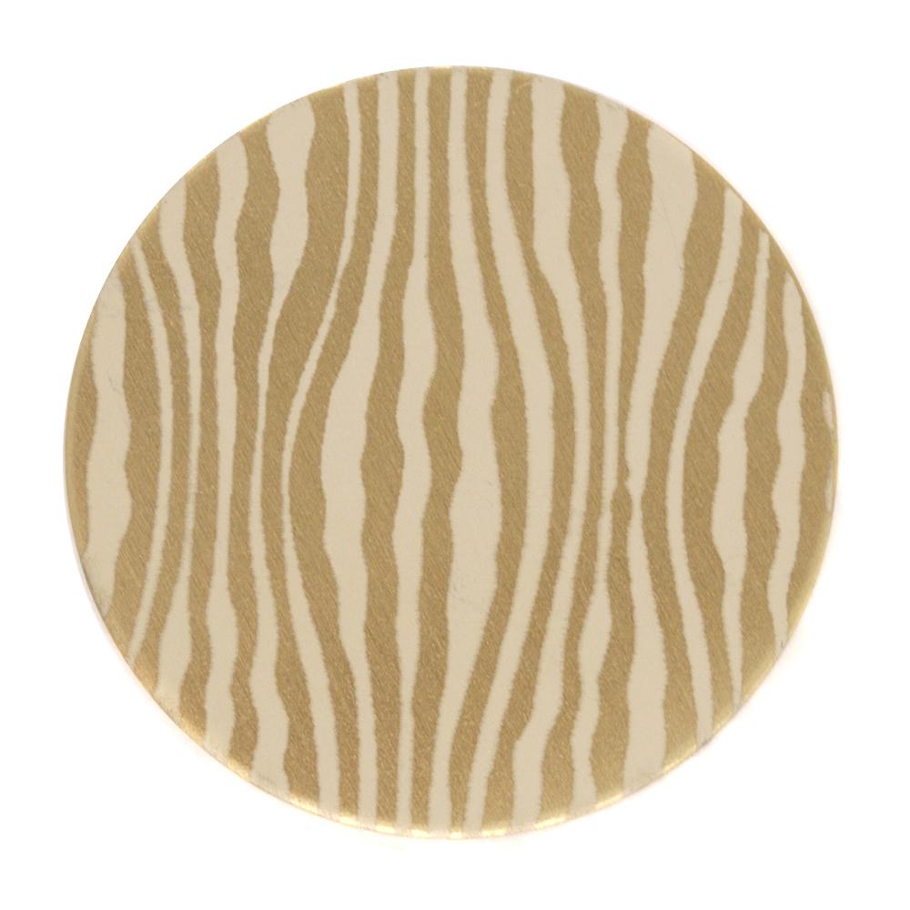 "Anodized Aluminum 1"" Circle, Gold, Design #18, 22g"