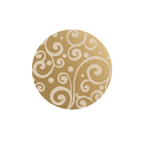 "Dregs Anodized Aluminum 5/8"" Circle, Gold, Design #21, 22g"