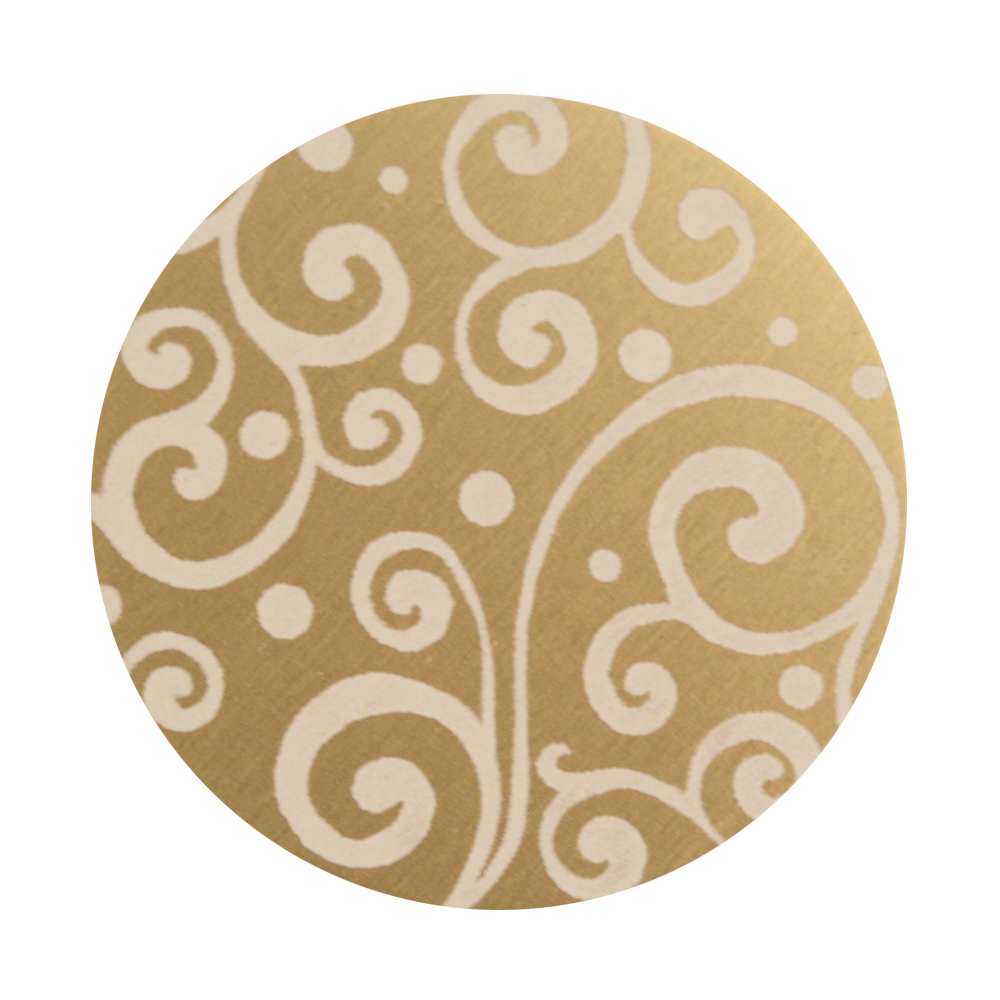 "Anodized Aluminum 1"" Circle, Gold, Design #21, 22g"