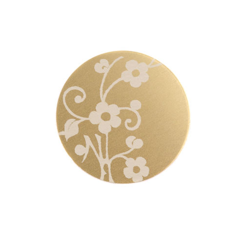 "Dregs Anodized Aluminum 5/8"" Circle, Gold, Design #1, 22g"