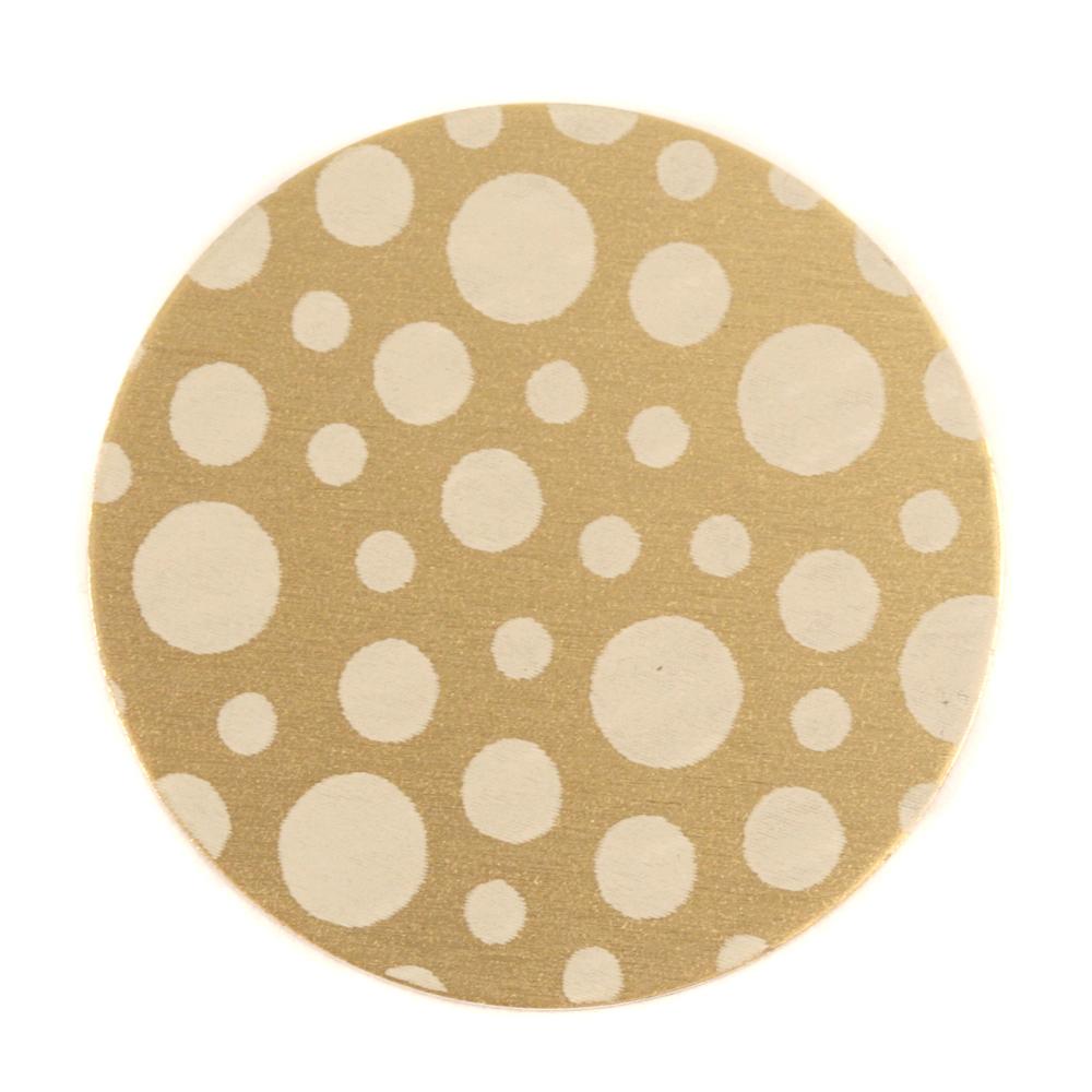 "Anodized Aluminum 1"" Circle, Gold, Design #12, 22g"