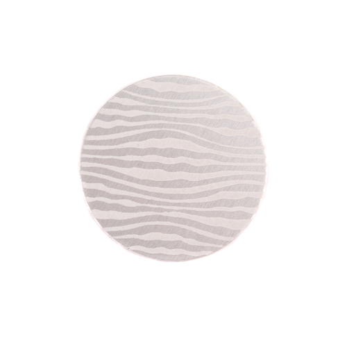 "Dregs Anodized Aluminum 5/8"" Circle, Silver, Design #18, 22g"