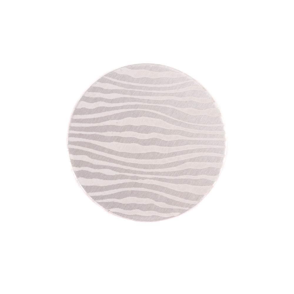 "Anodized Aluminum 5/8"" Circle, Silver, Design #18, 22g"